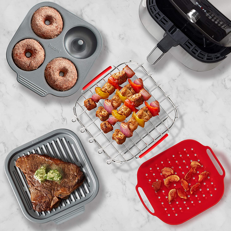 Instant Pot Official Cooking and Baking Set, Fits 6qt/10qt Vortex Air Fryer, 10-Piece, Multicolored