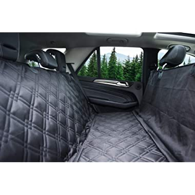 Bulldogology Dog Car Seat Covers 100% Waterproof Hammock Car Seat Cover for Pets - Heavy Duty Scratch Durability, Nonslip Backing, Quilted, Padded, Pet Seat Covers for Cars, Trucks, Vans, and SUVs