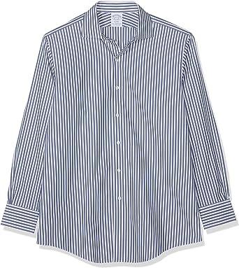 BROOKS BROTHERS Camicia Regent Manica Lunga Camisa de Oficina, Azul (Navy 411), Large (Talla del Fabricante: 16H 34) para Hombre: Amazon.es: Ropa y accesorios