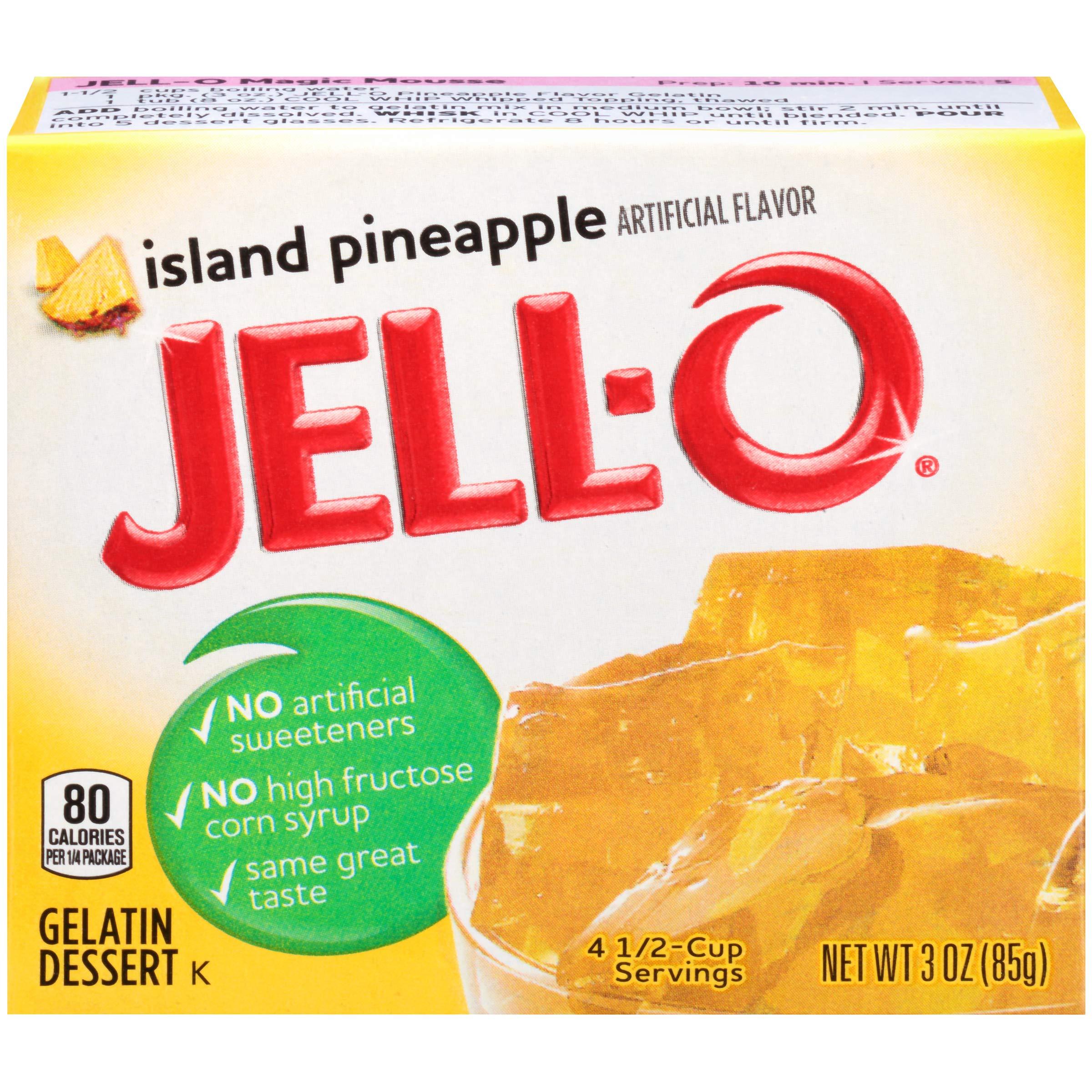 Jell-O Island Pineapple Gelatin Dessert Mix, 3 oz Box