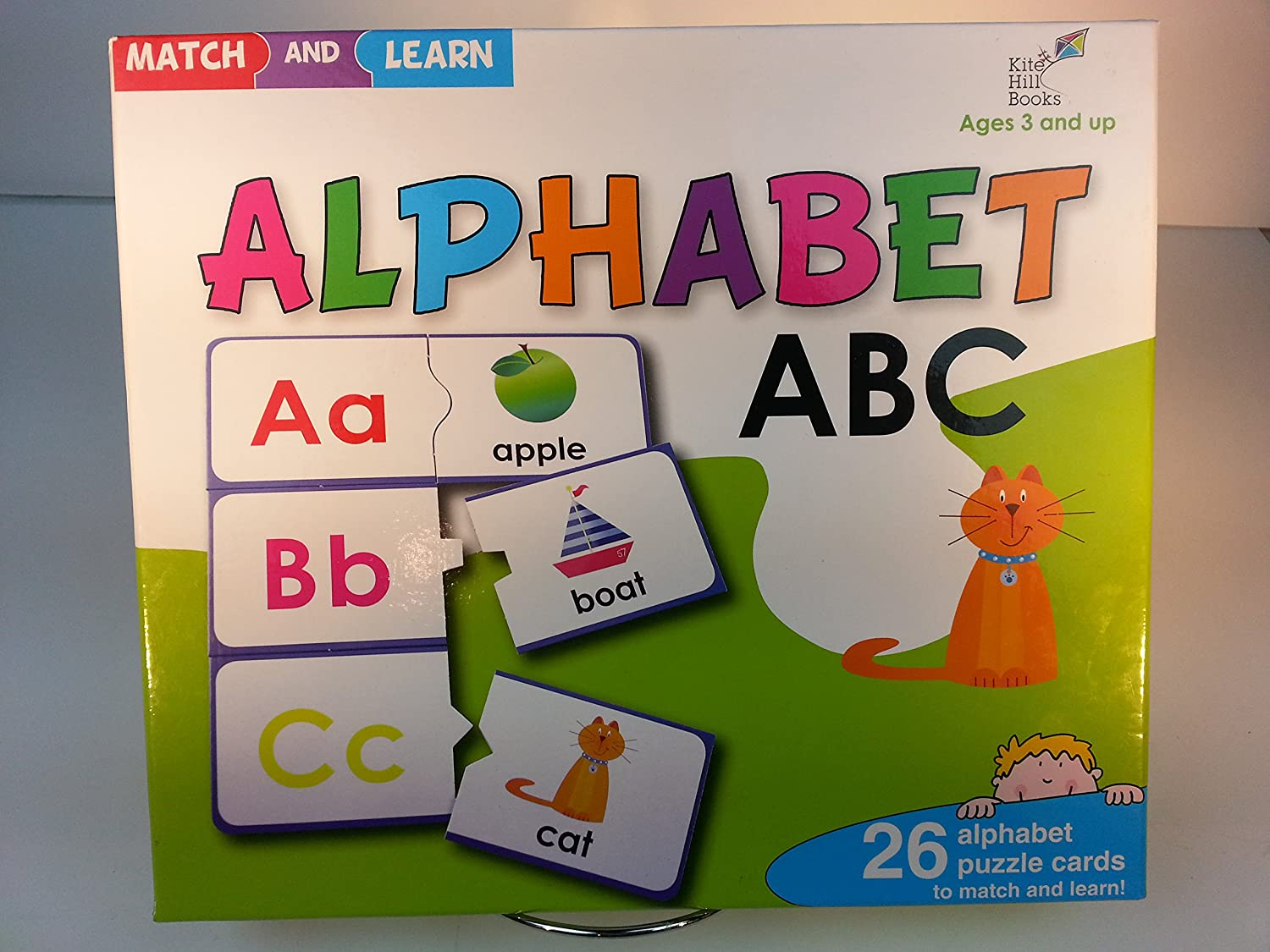 Match and Learn Alphabet 26 Alphabet Puzzle Cards Kite Hill Books