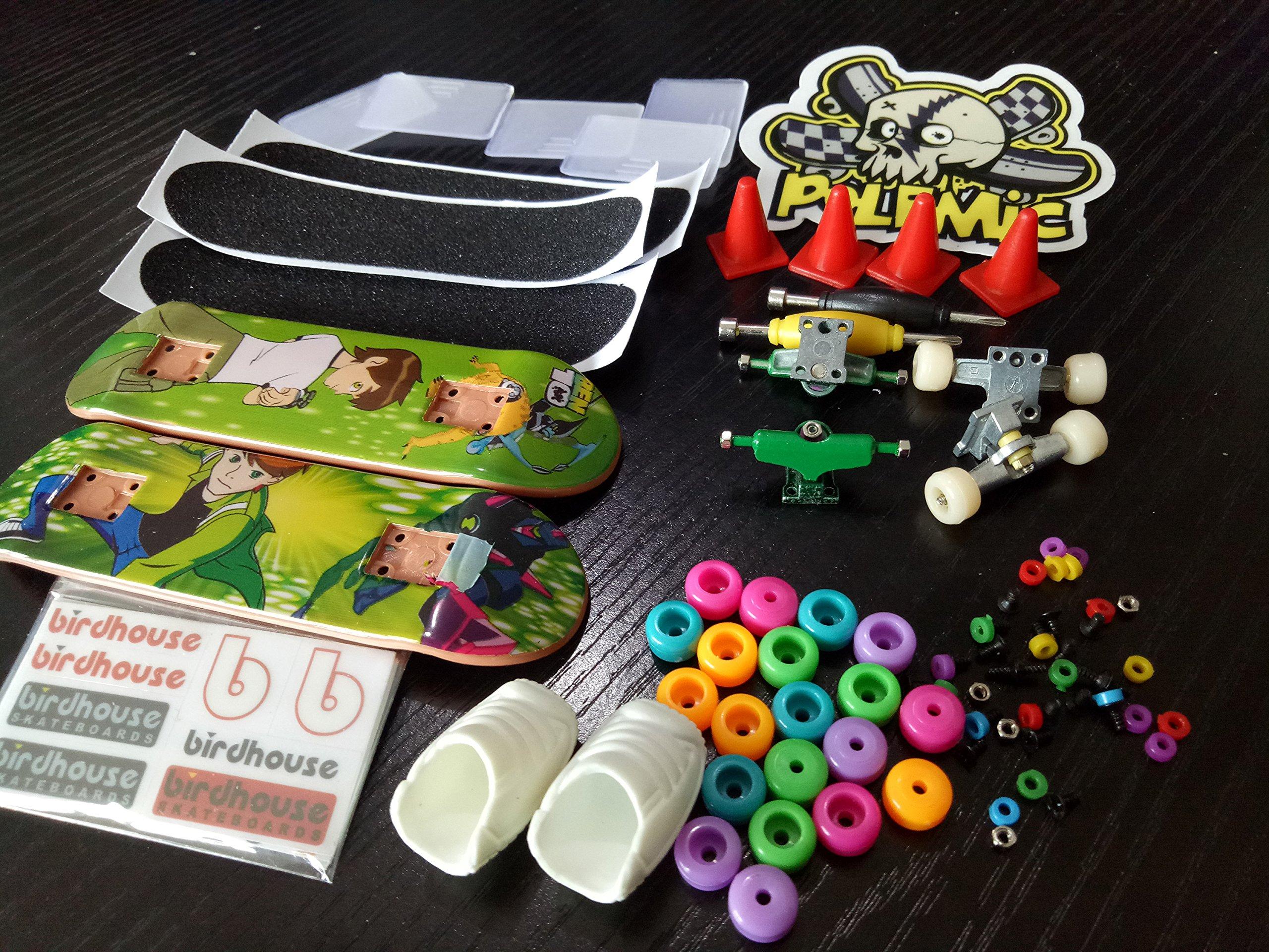 Fanci ABS Finger Skateboard Set Double Rocker DIY Mini Finger Boarding Toy with Storage Box by Fanci (Image #5)