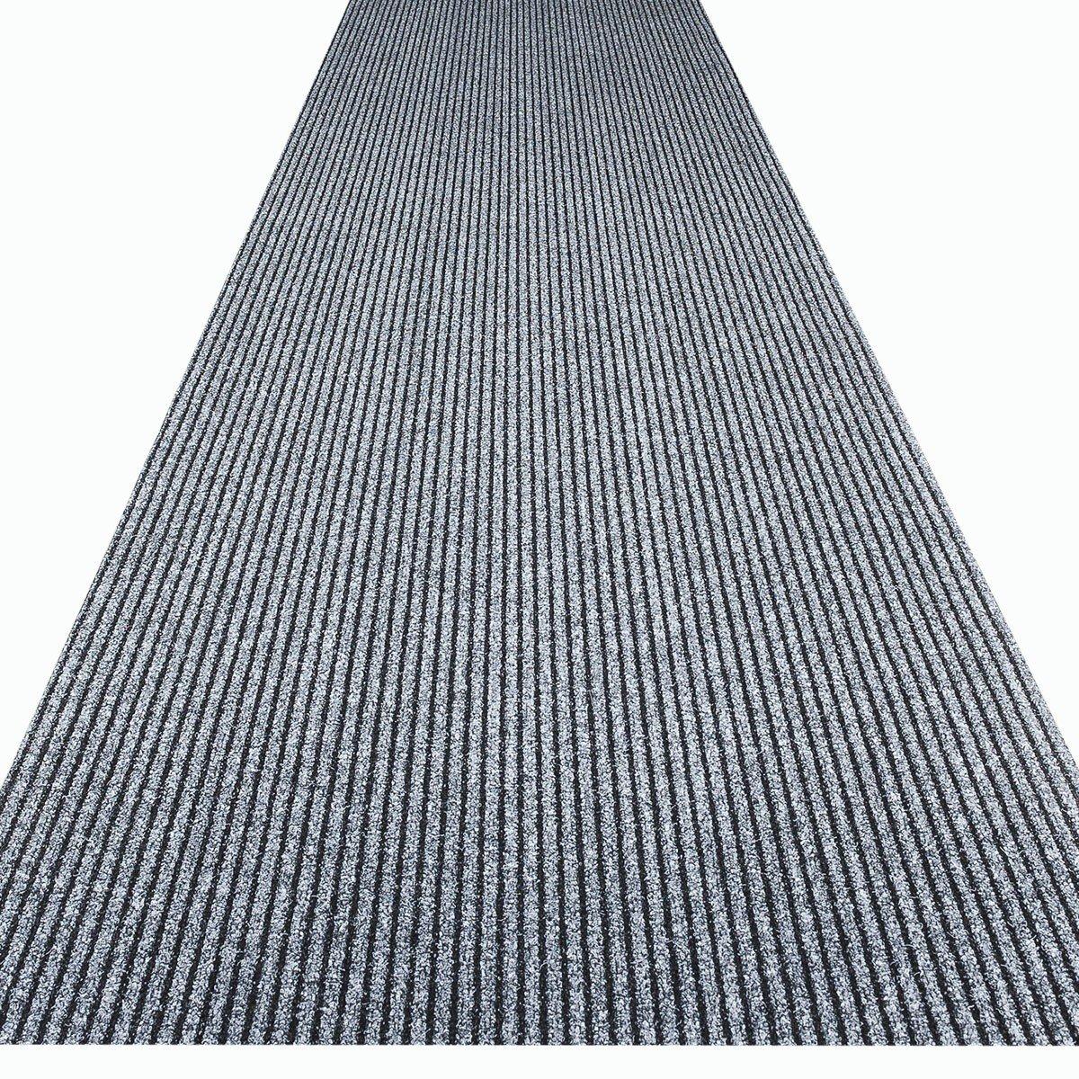 Havatex Küchenteppich Küchenmatte   Teppichläufer Event - schadstoffgeprüft   pflegeleicht strapazierfähig schmutzabweisend   Küche Flur Büro Eingang Diele, Farbe Grau, Größe 100 x 600 cm
