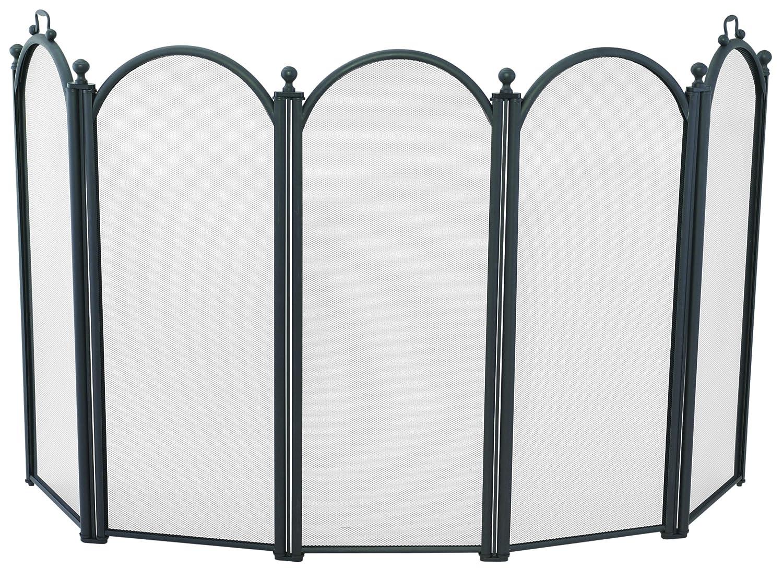 Amazon.com: Large Diameter Five Fold Black Fireplace Screen With ...