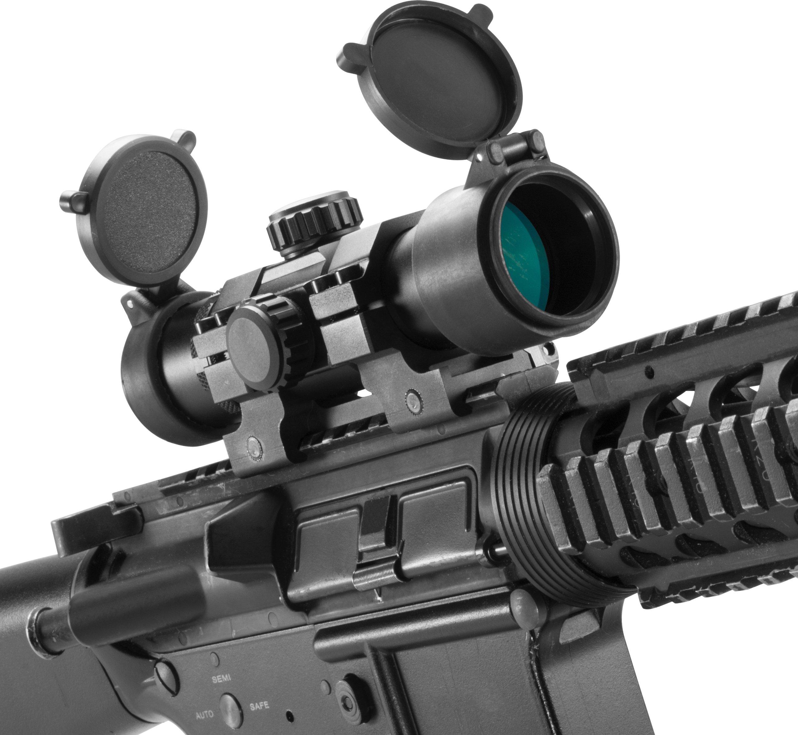 BARSKA New Rifle Scopes 1x30mm Dual Color Green/Red Dot Scope by BARSKA