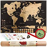 Scratch Off Map of the World Poster - US States