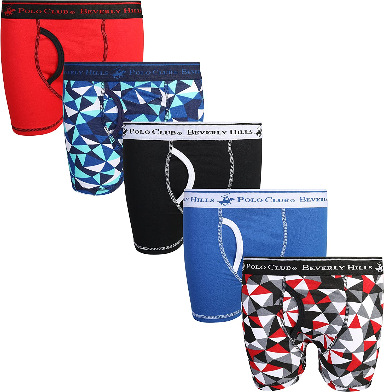 Pack of 5 Beverly Hills Polo Club Boys Boxer Briefs