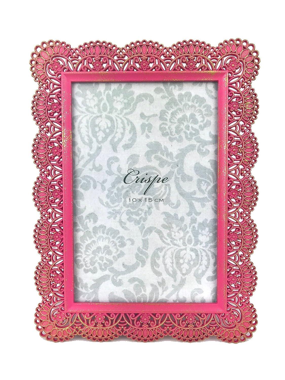 Amazon.de: Crispe Bilderrahmen Zadar in Pink mit antikgoldenen ...