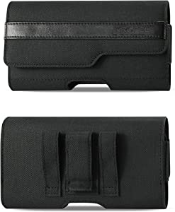 Krofel Pouch Cover Clip Holster for Samsung Galaxy Note 10+ / Note9 / S10+/S9+ / A20 / A50 / LG V50/G8 ThinQ/Stylo 5 / Google Pixel 4/3a XL/iPhone Xs Max/iPhone 11 Pro Max (Fits w Slim Case on it)