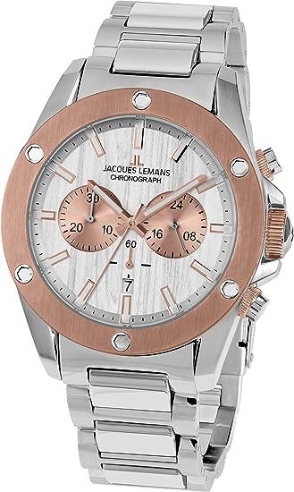 Jacques Lemans Liverpool - Reloj de pulsera analógico de cuarzo Acero inoxidable 1 - 1812e: Amazon.es: Relojes