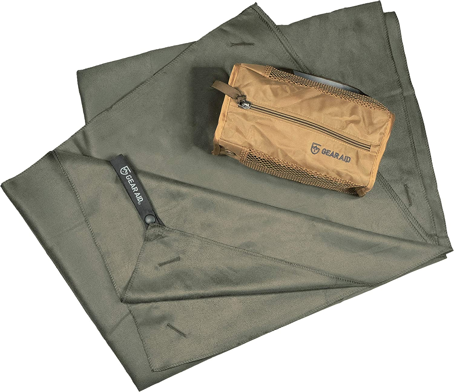 35x62 Travel and Camping XL X-Large Gear Aid Unisexs 44035 Quick Dry Microfiber Towel for The Gym Olive Drab OD Green