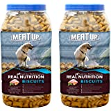 Meatup Chicken Flavour Real Chicken Biscuit,Dog Treats, 1kg (Buy 1 Get 1 Free)