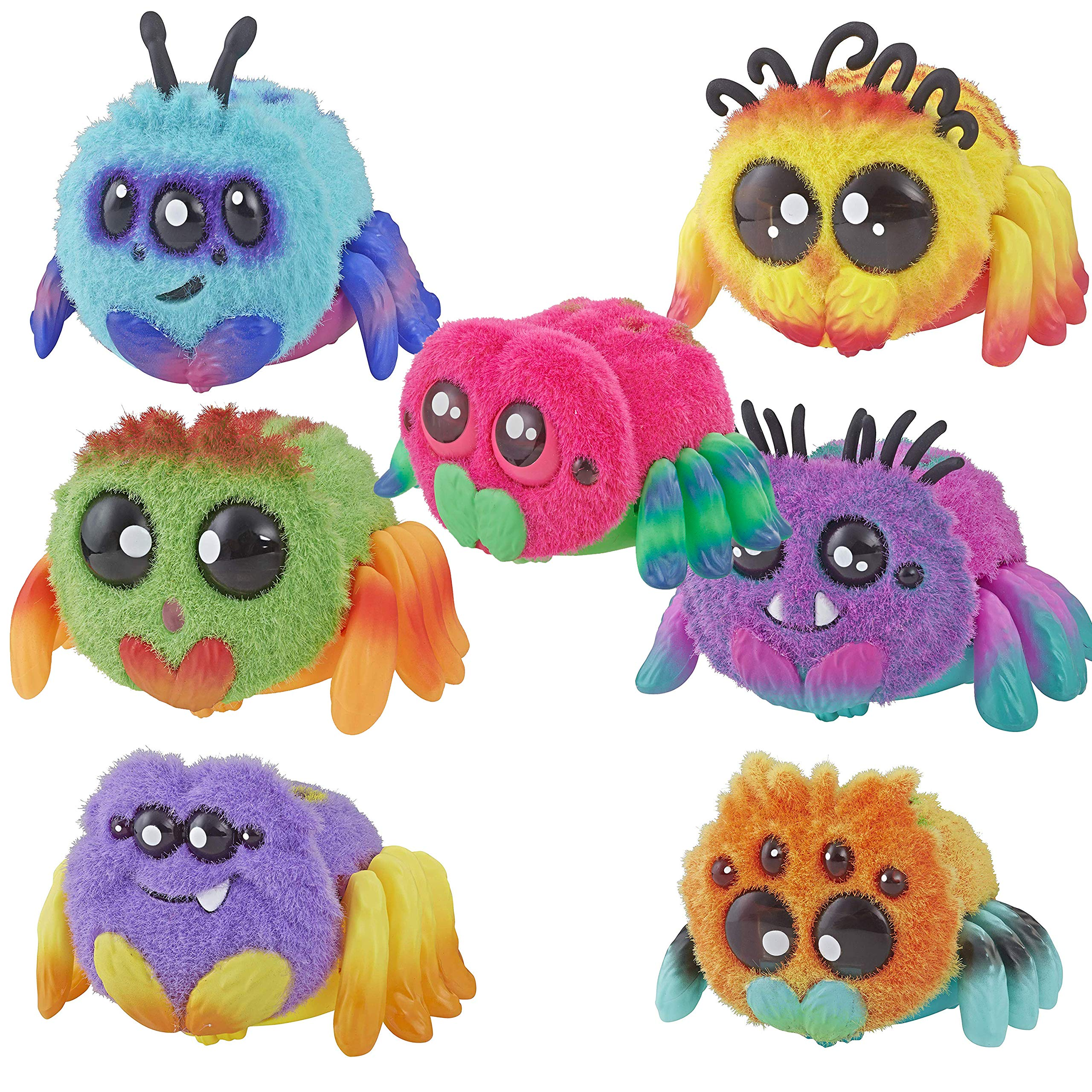Spider Sammie, FlufferPuff; Harry Scoots, Klutzers, Toofy Spooder, Bo Dangles Peeks Voice-Activated Pet; Ages 5 up - Set of 7 by Spider (Image #1)