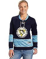 NHL Reebok Pittsburgh Penguins Women's Premier Jersey - Navy Blue (Large)