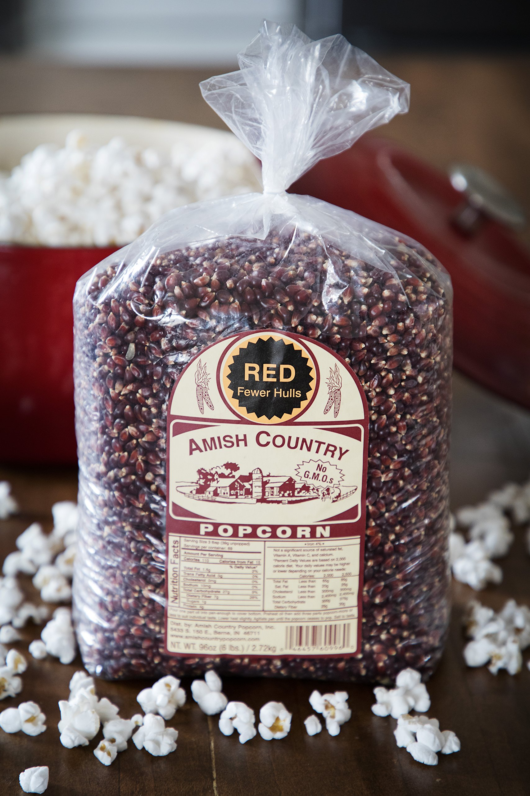 Amish Country Popcorn - Red Popcorn (6 Pound Bag) - Old Fashioned, Non GMO, and Gluten Free - with Recipe Guide by Amish Country Popcorn (Image #5)