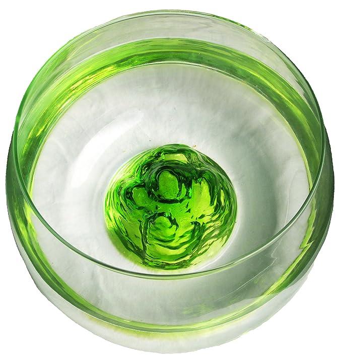 Nicepets Pecera ovalada de vidrio con Volcan azul en su interior 6,5L (verde): Amazon.es: Productos para mascotas