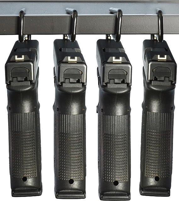 BOOMSTICK BOOM-10008-4PKBoomstick Gun Accessories Under Shelf Vinyl Coated Metal Handgun Pistol Hangers (Pack of 4)