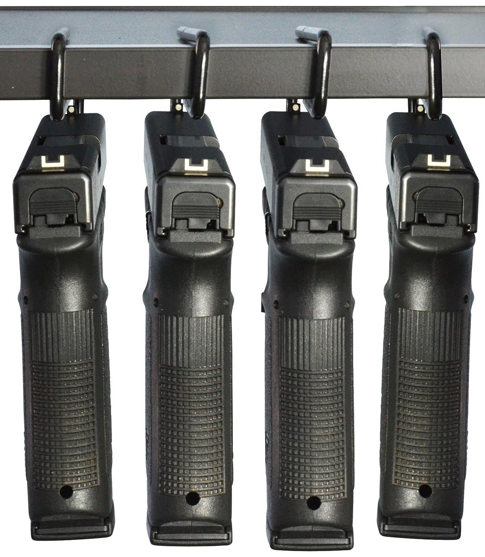 Pistolet Boomstick Accessoires Boom-10008–4Pk sous étagère Pistolet en métal avec revêtement en Vinyle cintres (Lot de 4)–Noir Boomstick Gun Accessories BOOM-10008-4PK