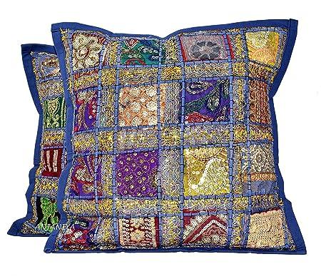 textile treasure Funda de cojín de Tela con diseño de ...