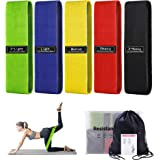 Resistance Bands, Upgrade Non Slip Booty Bands Elastic Exercise Bands & Roll Workout Bands for Legs and Butt, Fitness…