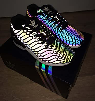 free shipping 0a8b8 a88a8 Adidas Originals ZX Flux Xeno Reflective Core Black-UK Size 3.5-BOXED   Amazon.co.uk  Shoes   Bags