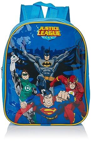 DC 9825029HV - Mochila para niños de la Liga de la Justicia con Batman, Superman, Linterna Verde y Flash, 33 cm: Amazon.es: Juguetes y juegos