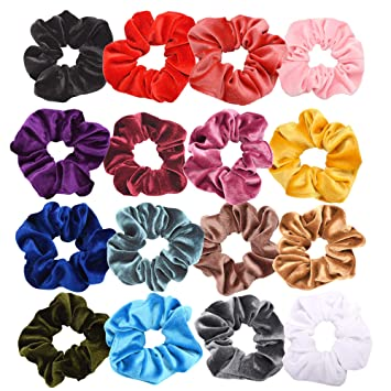 Hair Scrunchies Knit Elastic Hair Ties Scrunchy Hair Bands,Colorful Hair Ties,Hair Accessories Ropes Scrunchies for Women & Girls