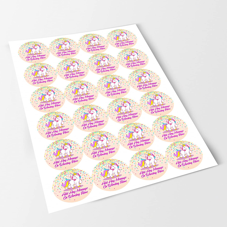 Amazon.com: Confetti Unicorn Sticker Labels (12 Stickers, 2.5\'\' Inch ...