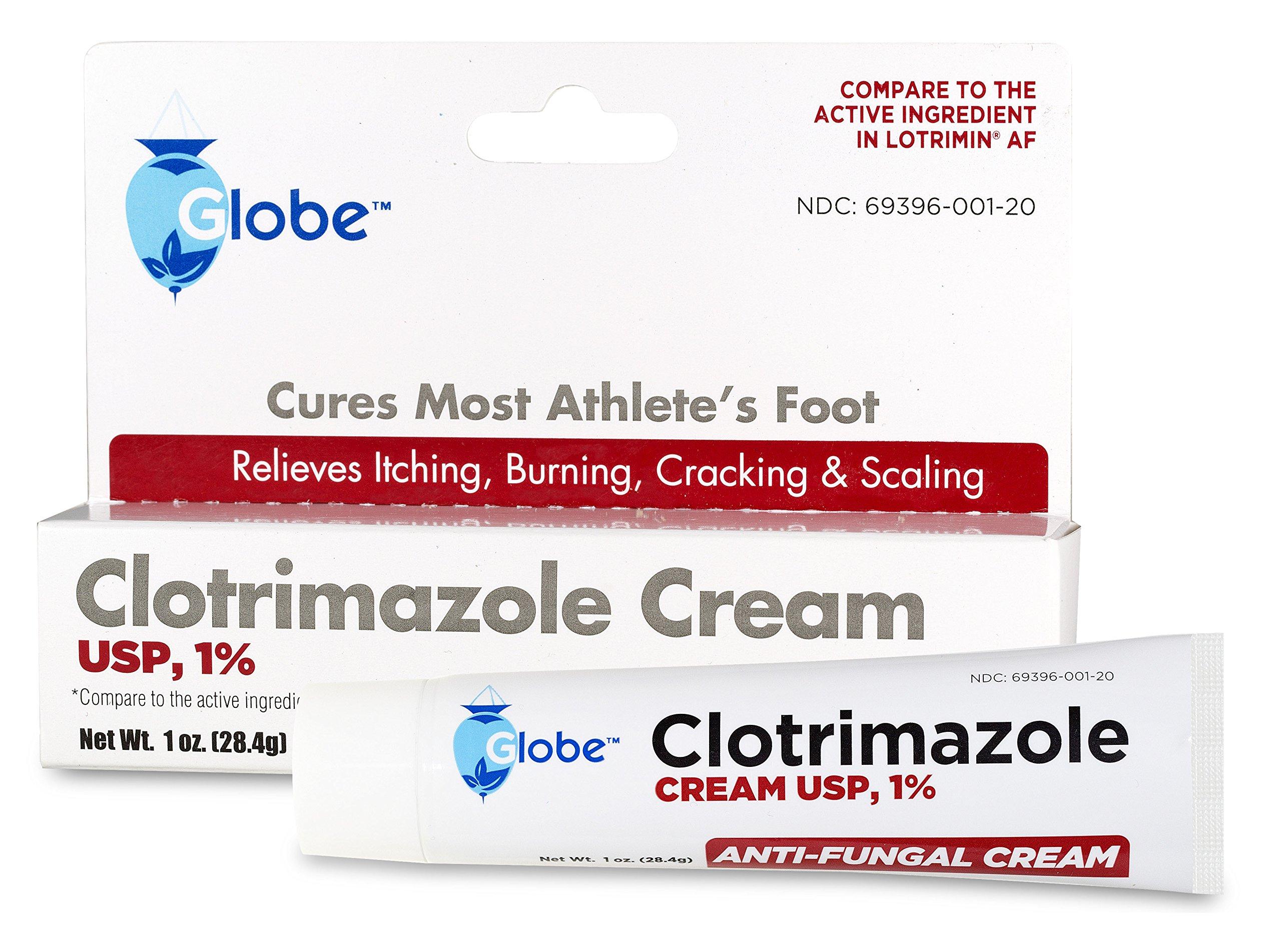 Clotrimazole Antifungal Cream 1% USP 1 oz, (Compare to Lotrimin) (180 Tubes/Carton) Distributors Price by Globe