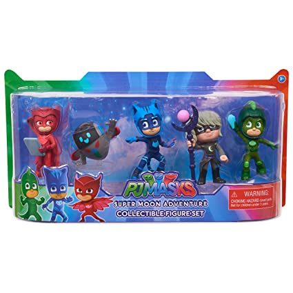 PJMASKS Super Moon Adventure Collectible Figures, Multicolor