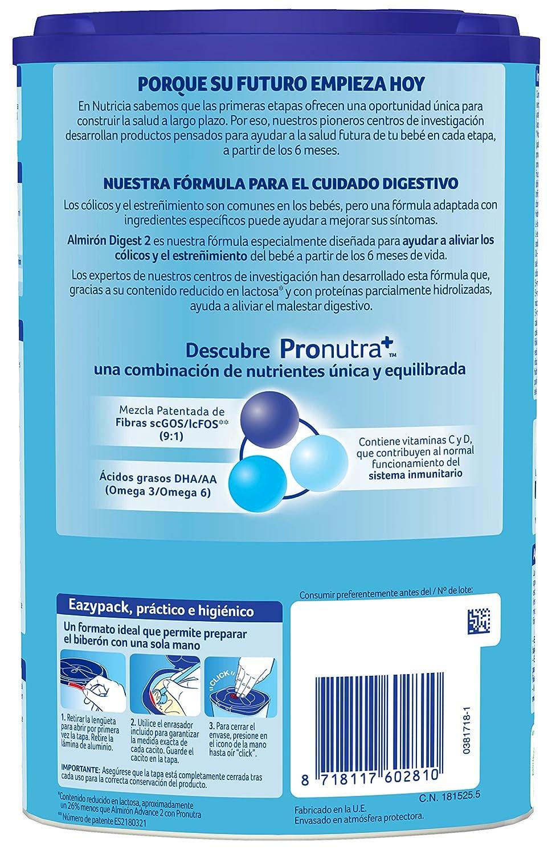 Almirón Advance con Pronutra Digest 2 Leche de continuación en polvo desde los 6 meses - 800 g: Amazon.es: Amazon Pantry
