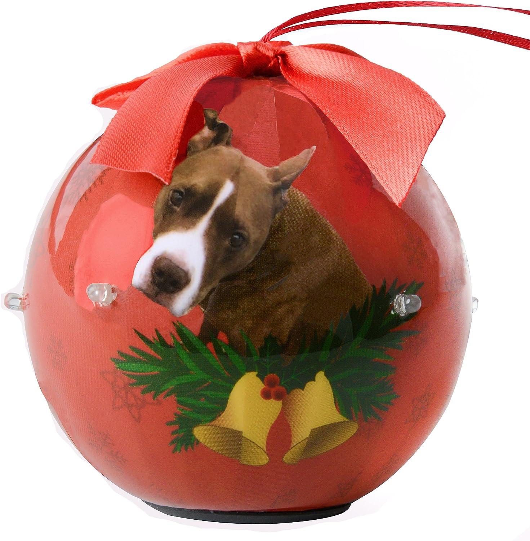 Bull Dog Puppy Ornament Blinking Light