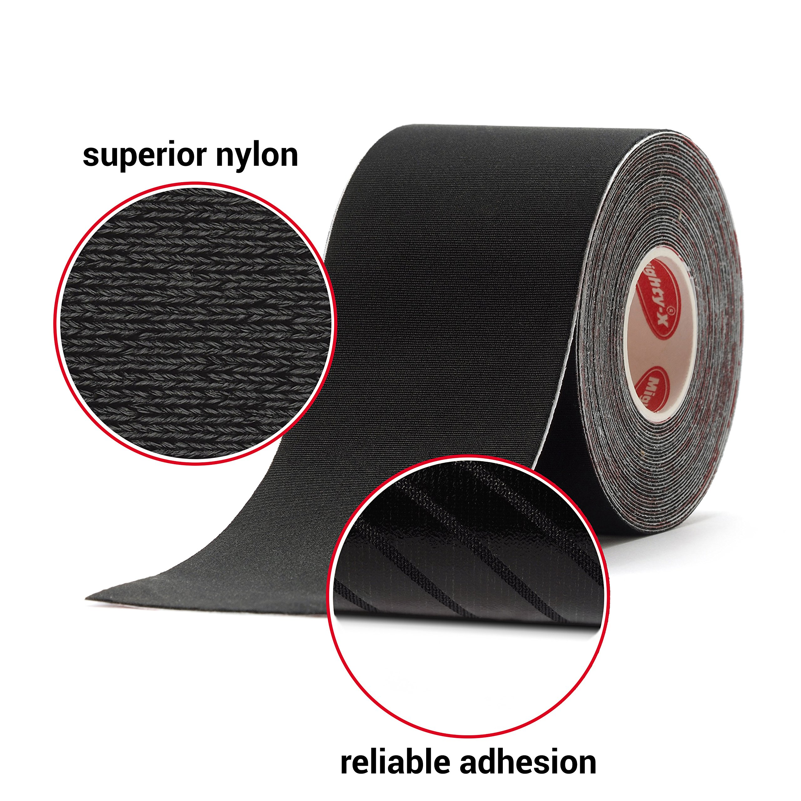 """Professional Kinesiology Tape - 3 Pack Mixed - Uncut Tape - Synthetic Kinetic Tape - Heavy Duty Sport Tape - Muscle Tape - KTape - Knee Tape - Premium Synthetic Sports Tape - K Tape - 2"""" x 5y by Mighty-X (Image #2)"""