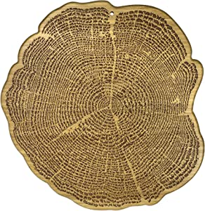 Totally Bamboo Tree of Life Bamboo Serving and Cutting Board with Laser-Engraved Animal Artwork