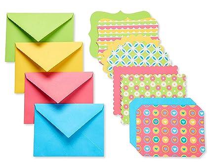 Amazon american greetings bright blank single panel note cards american greetings bright blank single panel note cards and colored envelopes 40 count m4hsunfo