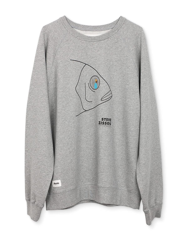 Brava Fabrics, Gemusterter Sweater in der Farbe Grau, Modell Sweater Life Aquatic