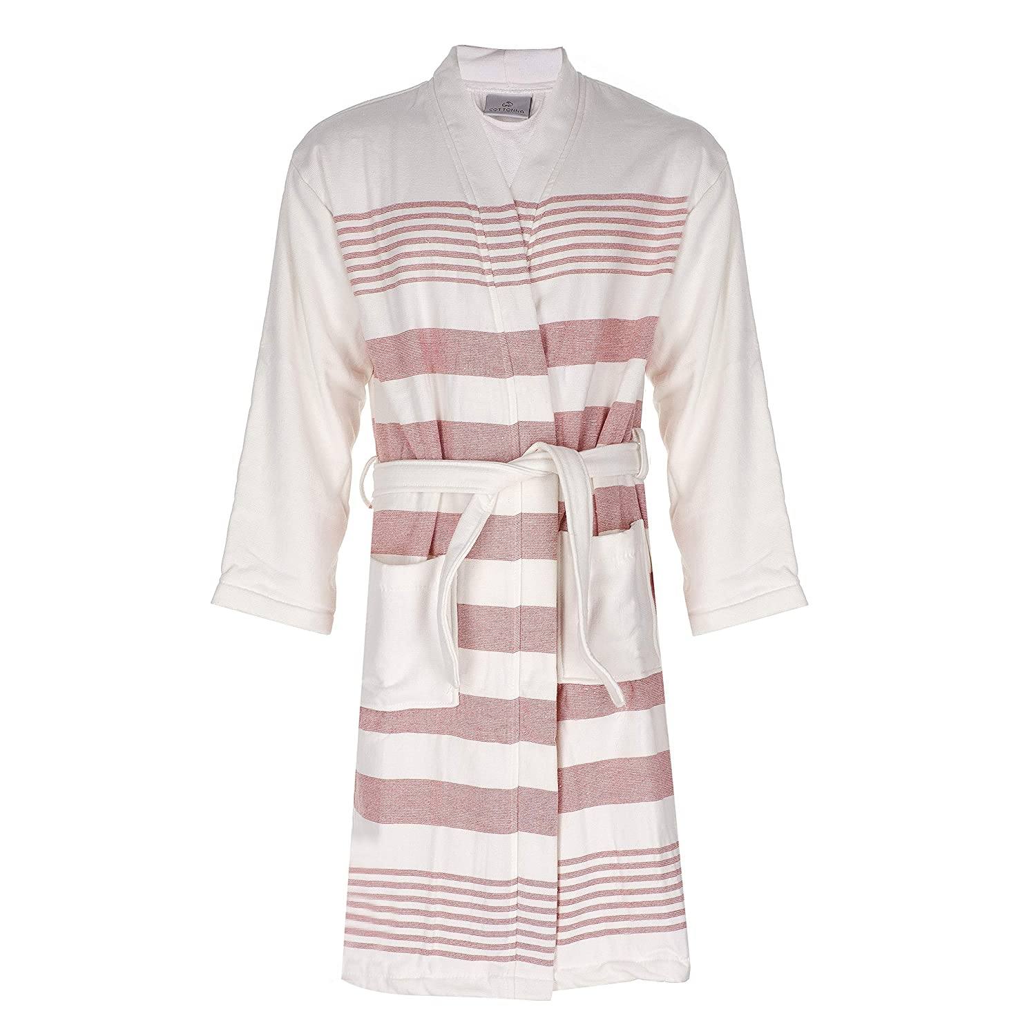 Cottonna 100% Turkish Cotton Fouta Bathrobe - Pestemal Robe Hammam Collection