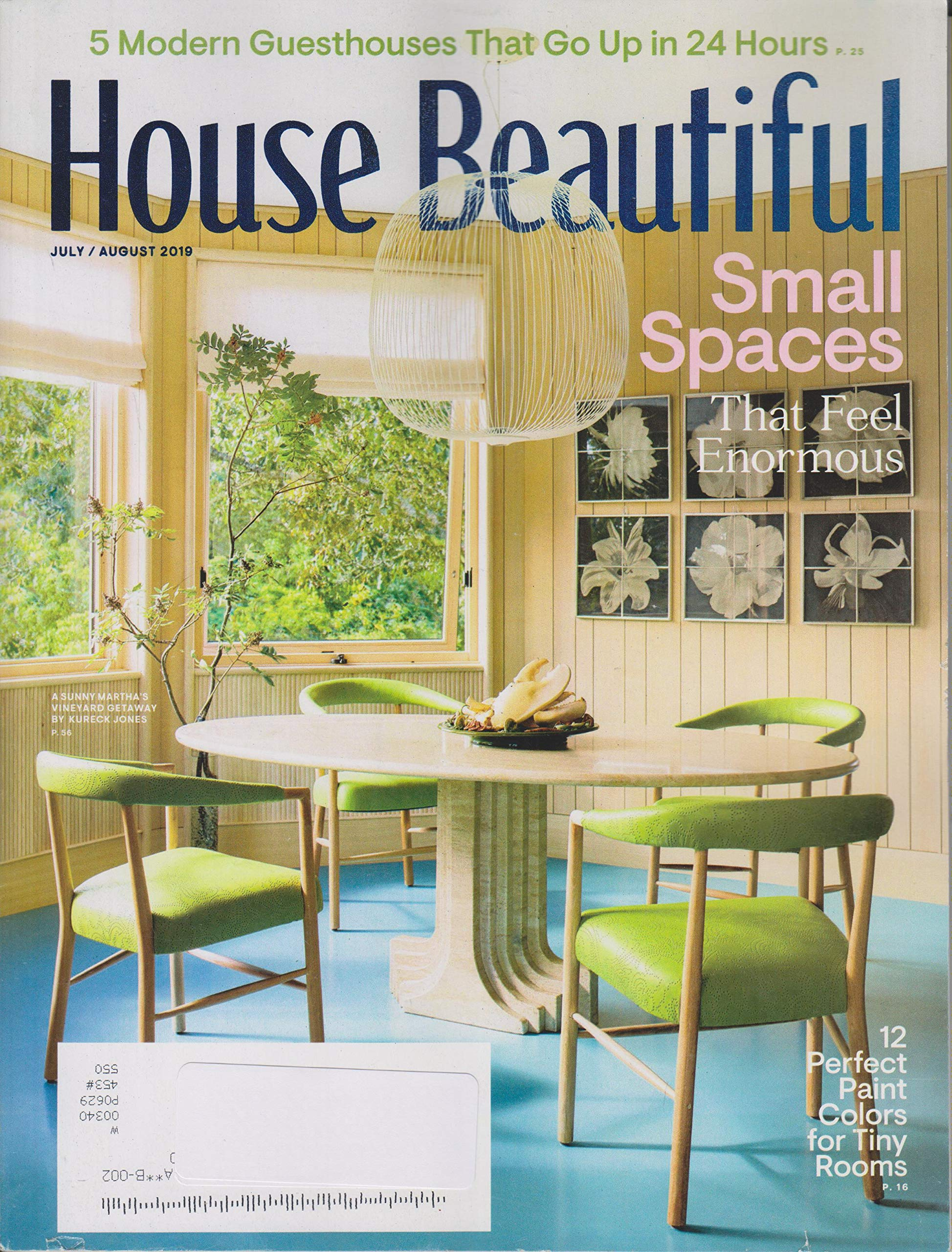 House Beautiful July/August 2019 Small Spaces That Feel ...