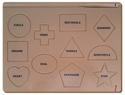The Kiddy Depot - Shape Tracing Board (11 Shapes) - Educational Puzzle