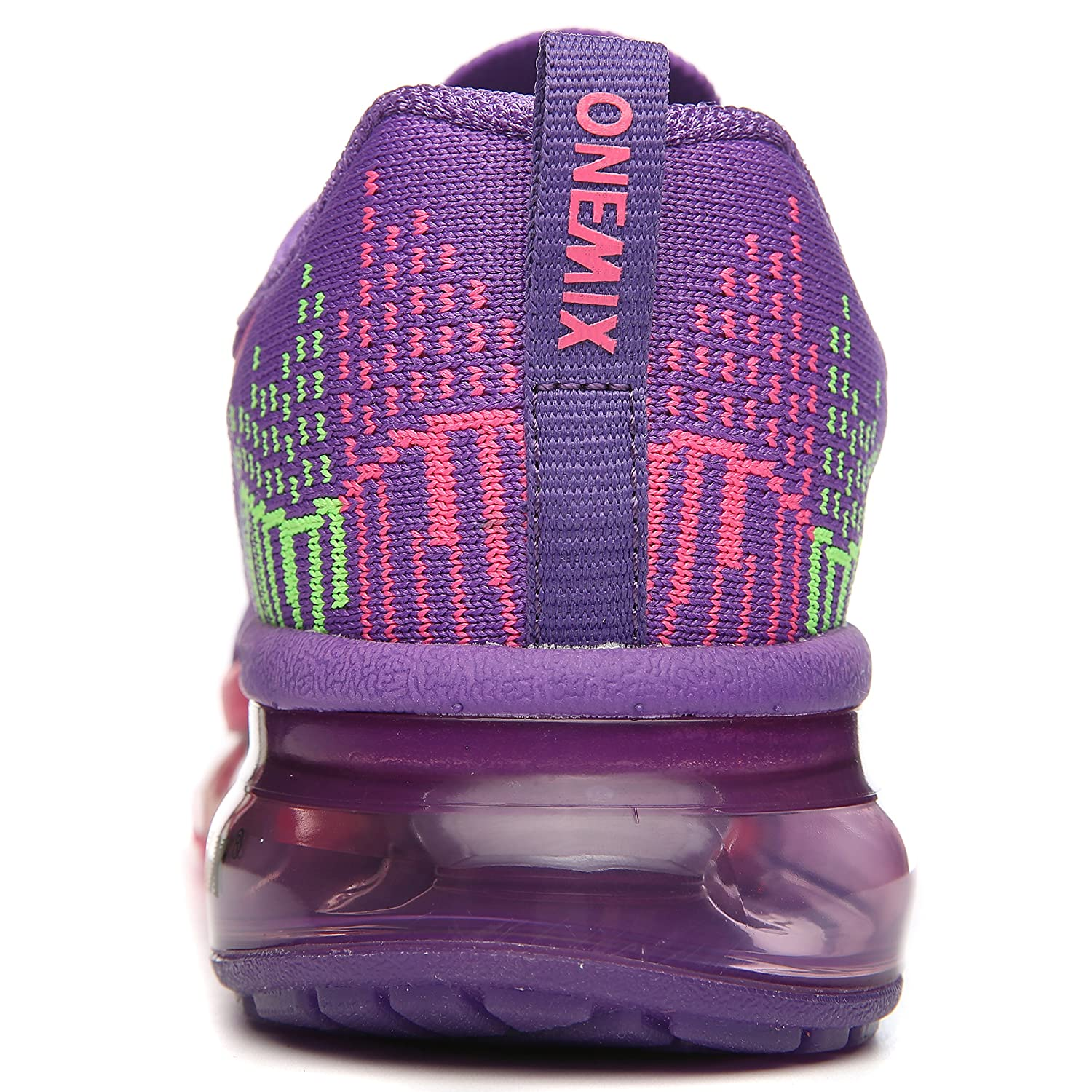 ONEMIX Womens Running Air Cushion Outdoor Sport Running Womens Shoes Lightweight Casual Sneakers B0789KBCX6 Men 5.5(M)US 38EU/Women 7(M)US 38EUR|Purple/Red 69c5f0