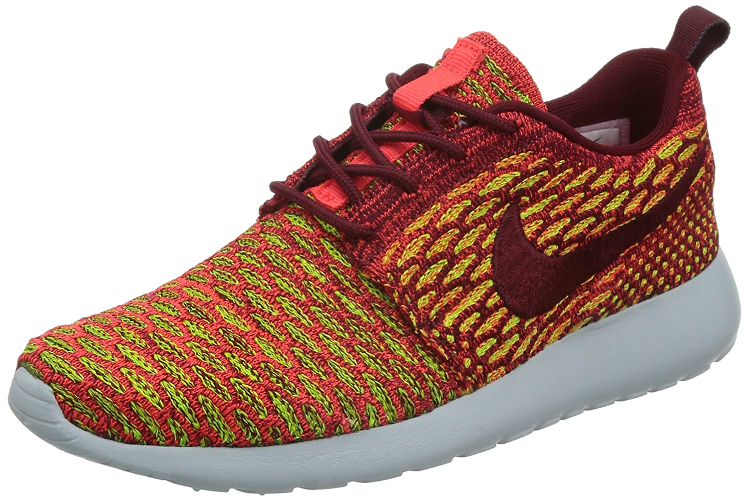 NIKE Womens Roshe One Flyknit Flyknit Colorblock Running Shoes B01714NYTG 8 B(M) US|Team Red/Bright Crimson/Volt