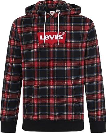 Moderno Levi's Amazon Blu Cappuccio Con Uomo Abbigliamento it Felpa wqnSqrIf