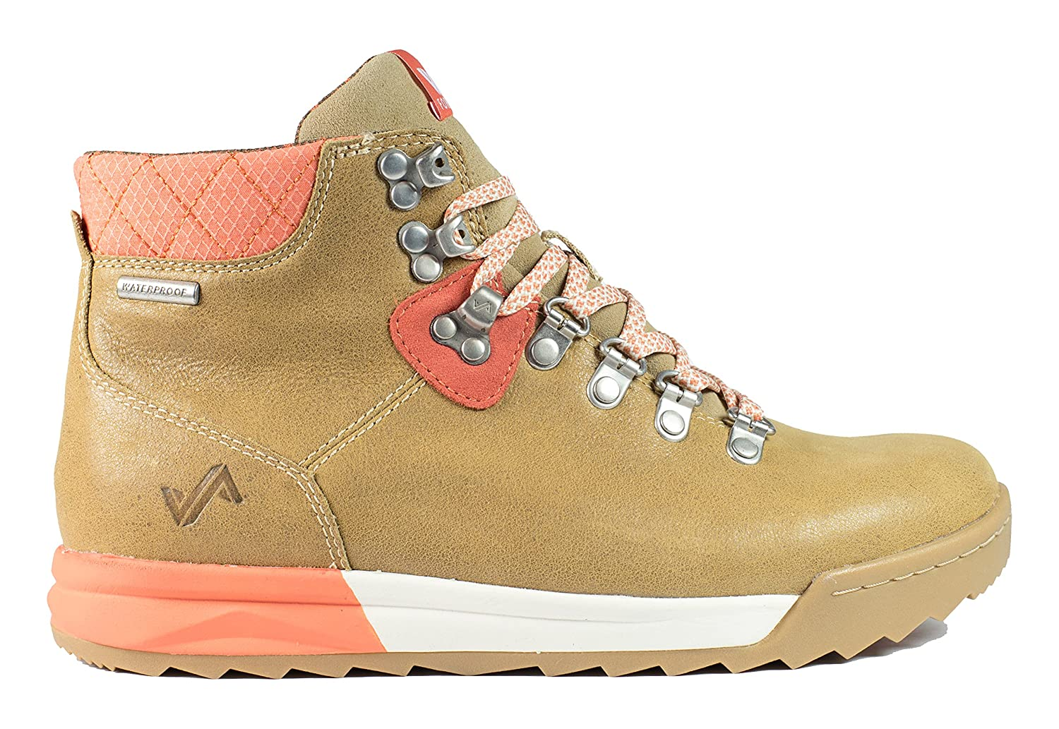 Forsake Patch - Women's Waterproof Premium Leather Hiking Boot B01NAX8KX8 8 M US|Sand/Coral