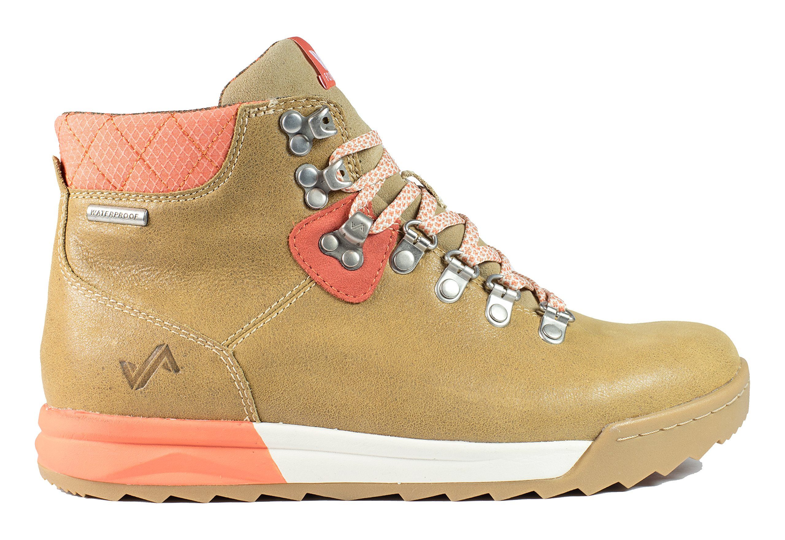 Forsake Patch - Women's Waterproof Premium Leather Hiking Boot (11, Sand/Coral)