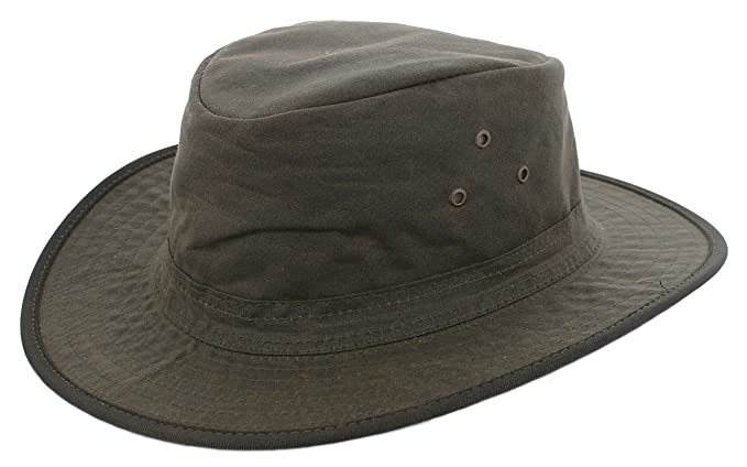 Hawkins AK62 Headwear Wax Cotton Fedora (Mens Ladies Unisex) (Large 59cm 2b2fb9187dc