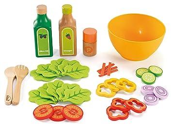 Amazon Com Hape Healthy Gourmet Salad Kid S Wooden Play Kitchen