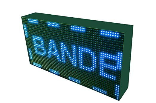 CARTEL LED PROGRAMABLE LETRERO LED PROGRAMABLE PANTALLA LED PROGRAMABLE (64 * 32 cm, AZUL) ROTULO LED PROGRAMABLE CARTEL ELECTRÓNICO ANUNCIA TU ...