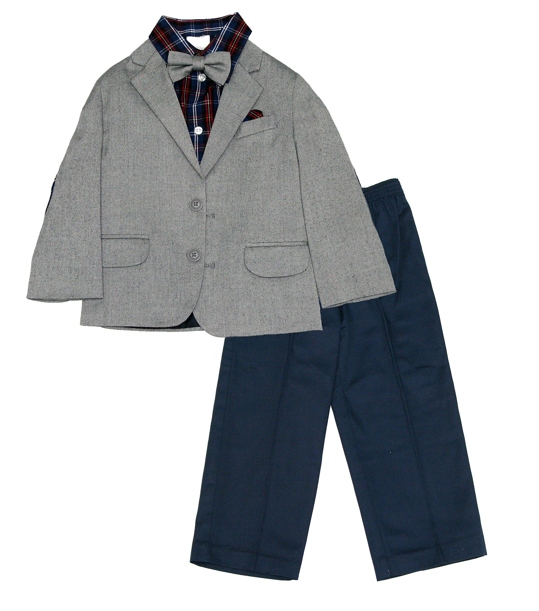 Nautica Toddler/Little Boys 4 Piece Suit (Grey, 3T)