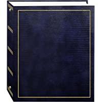 Pioneer Photo Albums Álbum de fotos autoadesivo magnético com 3 anéis 100 páginas (50 folhas), azul marinho