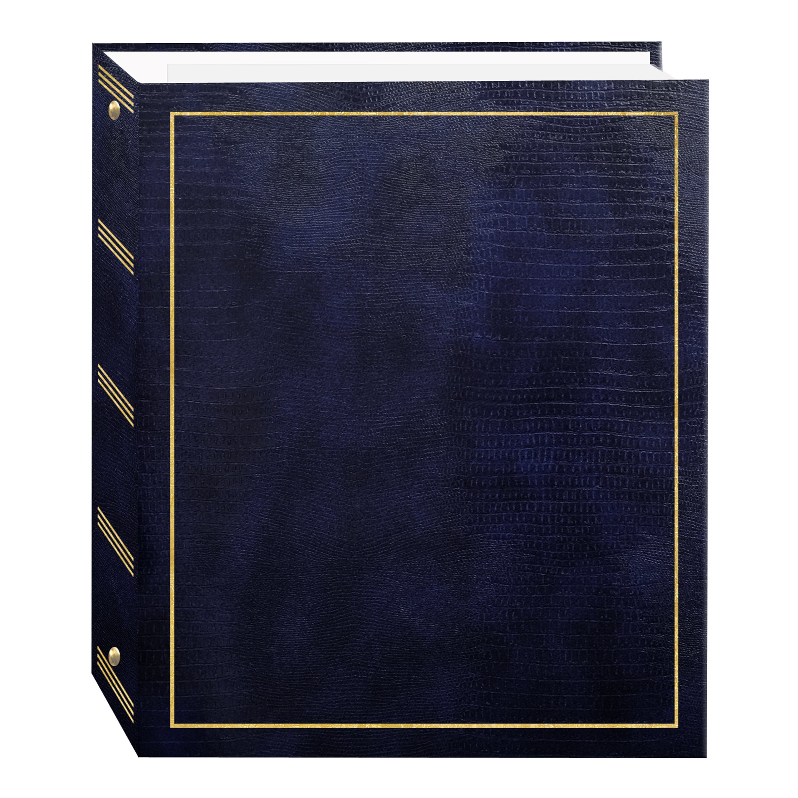 Pioneer Photo Albums Magnetic Self-Stick 3-Ring Photo Album 100 Pages (50 Sheets), Navy Blue by Pioneer Photo Albums